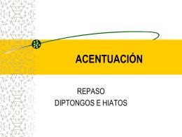 ACENTUACIÓN - Escola el Cim
