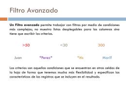 Filtros Avanzados Excel