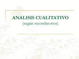 ANALISIS CUALITATIVO (según recordatorios)