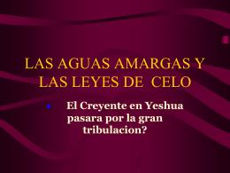LAS AGUAS AMARGAS Y LAS LEYES DE CELO