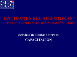 fecha de recaudación. - Copyright Servicio de Rentas Internas del