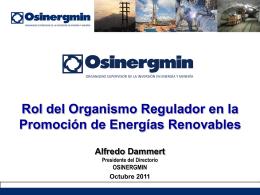 Energias Renovables - Exp. Alfredo Dammert