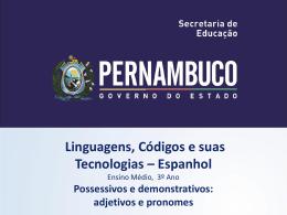 LÍNGUA ESPANHOLA, 3º Ano do Ensino Médio