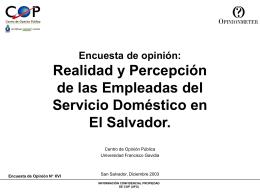 Realidad y Percepción de las Empleadas del Servicio