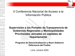 Niveles de cumplimiento Gobiernos Regionales