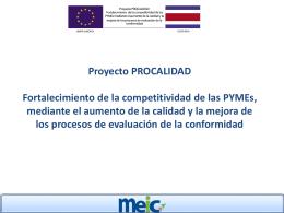 Presentación del proyecto PROCALIDAD