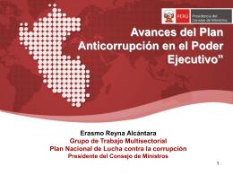Objetivos del Plan Nacional de Lucha contra la Corrupción