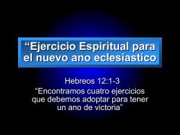 """""""Ejercicio Espiritual para el nuevo ano eclesiastico"""