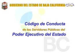 Código de Conducta de los servidores públicos del Poder Ejecutivo