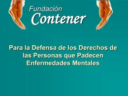Presentación de la Fundación Contener y los Premios 2006