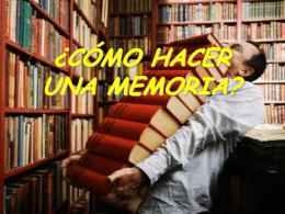 Qué debe contener una memoria?
