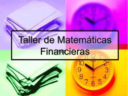 Taller de Matemáticas Financieras 2