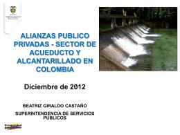 Alianza Público-Privada/ Sector de Acueducto y Alcantarillado en