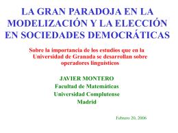 Javier Montero de Juan - Máster en Soft Computing y Sistemas