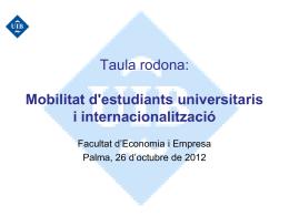 Programas de Movilidad - Facultat d`Economia i Empresa