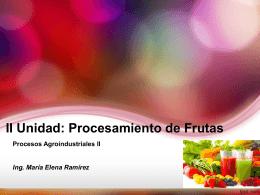 Elaboración de jugos, pulpas y néctares
