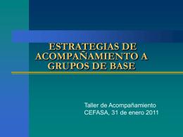 estrategias de acompañamiento a grupos de base