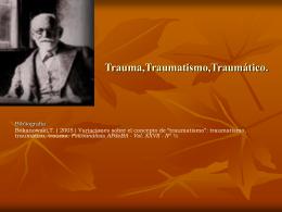 Concepto de Trauma,Traumatismo,Traumático