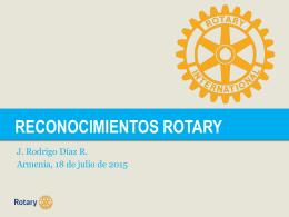 Reconocimientos Rotary
