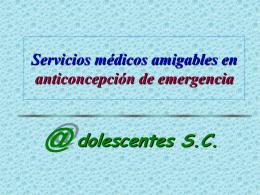 Anticoncepción de Emergencia y Servicios Amigables