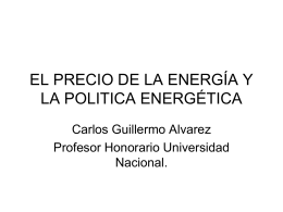 EL PRECIO DE LOS MINERALES Y LA ENERGÍA