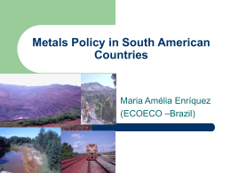 5. Metals Policy in South American Countries_ Maria Amelia