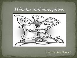 Métodos anticonceptivos - Colegio Aurora de Chile SUR