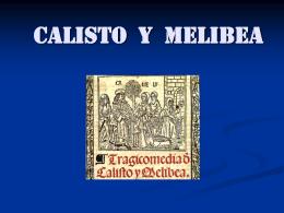 La pareja Calisto - Melibea
