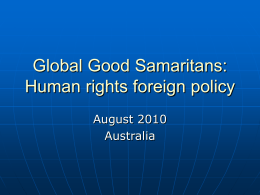 Global Good Samaritans: Human rights foreign policy