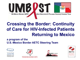US-Mexico Border - AIDS Education and Training Centers National