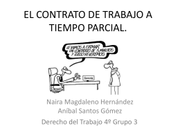 el contrato de trabajo a tiempo parcial