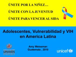 Adolescentes, Vulnerabilidad y VIH