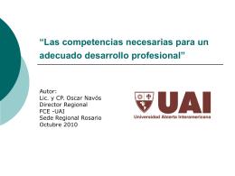 """""""Las competencias necesarias para un adecuado desarrollo"""