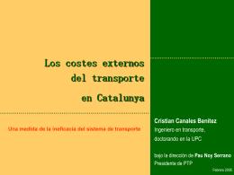 (I) Costes externos del transporte en Catalunya