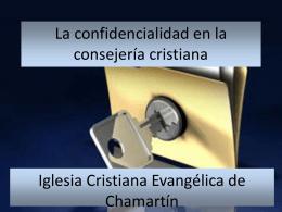 intimidad personal y familiar - Iglesia Cristiana Evangélica de