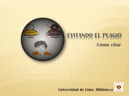 Cómo citar - Universidad de Lima