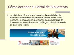 Cómo acceder al Portal de Bibliotecas