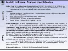 Instituciones especializadas ambientales