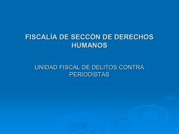 fiscalia de seccion de derechos humanos unidad fiscal de delitos