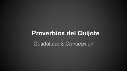 Proverbios del Quijote