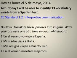 Hoy es lunes el 5 de mayo, 2014