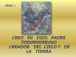 Tema 1 creo en Dios Padre - Diócesis de La Dorada