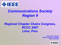 Presentación de PowerPoint - IEEE Communications Society