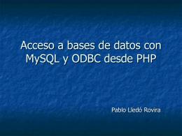 Acceso a OBDC con PHP