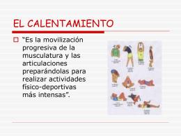 EL CALENTAMIENTO - Educastur Hospedaje Web