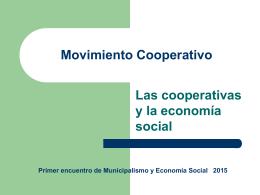 Movimiento Cooperativo - I Encuentro de Municipalismo y Economía