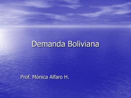 Demanda Boliviana