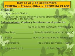 Slide 1 - Las Clases de la Sra. Turner