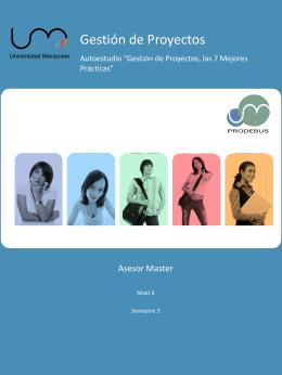 Autoestudio Gestión de Proyectos Asesor Master