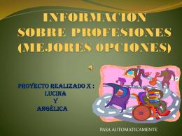 INFORMACION SOBRE PROFESIONES (MEJORES 0PCIONES)